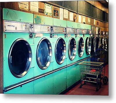 Laundromat Metal Print by Vivienne Gucwa