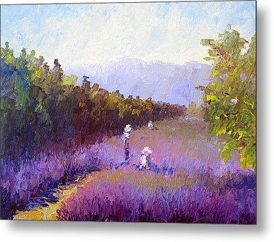 Lavender Fields Metal Print by Terry  Chacon