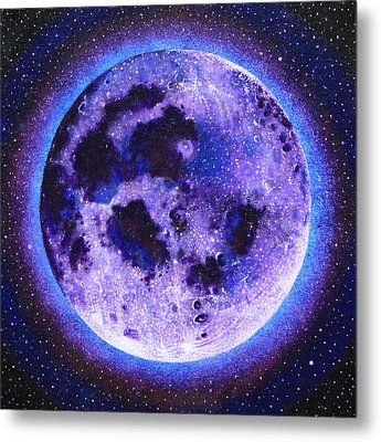 Lavender Moon Metal Print by Shelley Irish