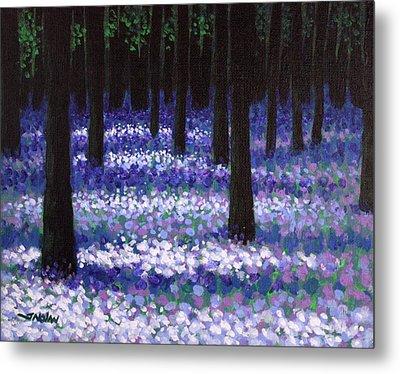 Lavender Woodland Metal Print by John  Nolan