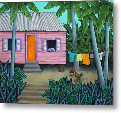 Lazy Day In The Caribbean Metal Print by Lorraine Klotz