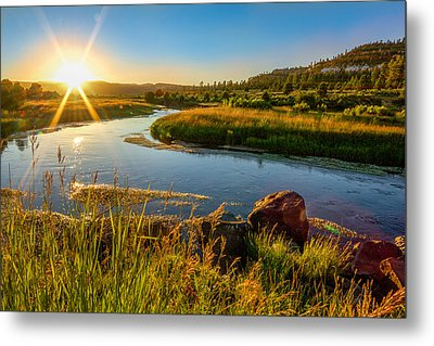 Lazy River Metal Print by Cole Pattschull