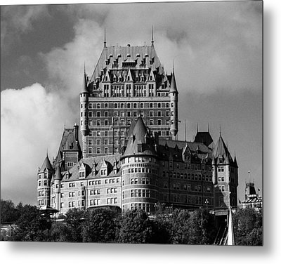 Le Chateau Frontenac - Quebec City Metal Print by Juergen Weiss