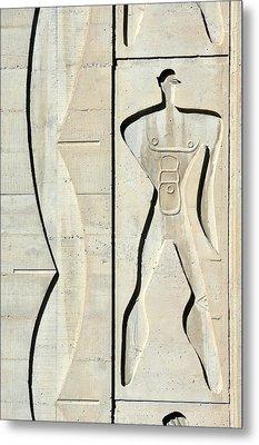 Le Corbusier Design Metal Print by Chris Hellier