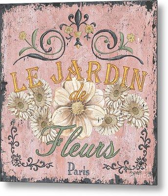 Le Jardin 1 Metal Print by Debbie DeWitt
