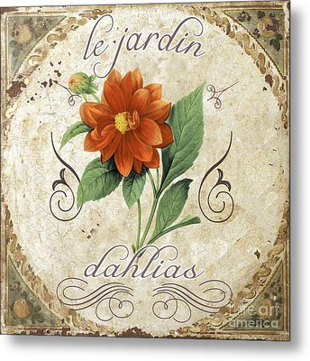 Le Jardin Dahlias Metal Print by Mindy Sommers