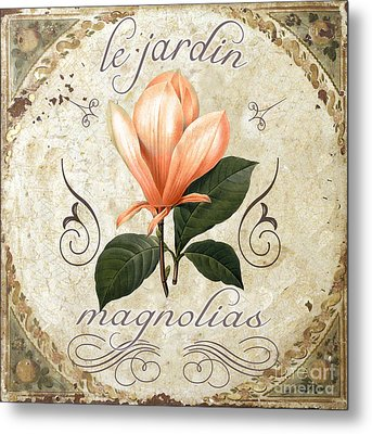 Le Jardin Magnolias Metal Print by Mindy Sommers