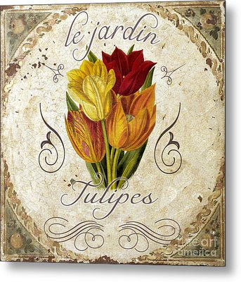 Le Jardin Tulipes Metal Print by Mindy Sommers