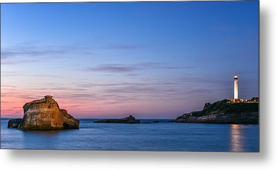 Metal Print featuring the photograph Le Phare De Biarritz by Thierry Bouriat
