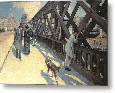 Le Pont De L'europe Metal Print by Gustave Caillebotte