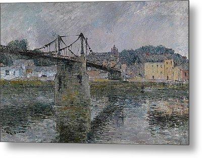 Le Pont Delbeuf Metal Print by Gustave Loiseau