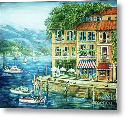 Le Port Metal Print by Marilyn Dunlap