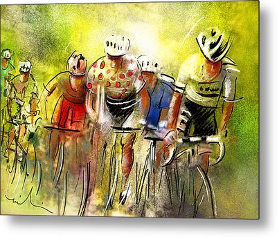 Le Tour De France 07 Metal Print by Miki De Goodaboom