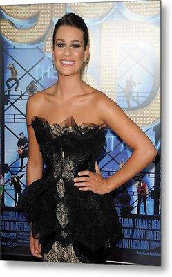 Lea Michele Wearing A Marchesa Dress Metal Print by Everett