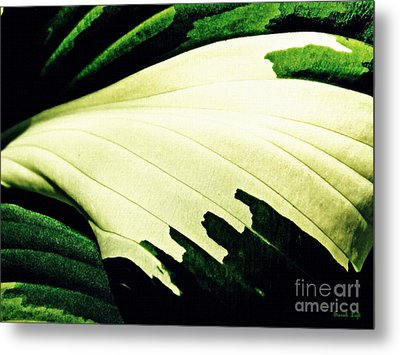Leaf Abstract 7 Metal Print by Sarah Loft