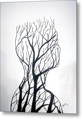 Leafless Metal Print by Edwin Alverio