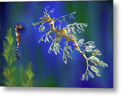 Leafy Sea Dragon Metal Print by Thanh Thuy Nguyen