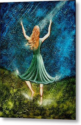 Learning To Dance In The Rain II Metal Print by Charlotte Smith