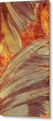 Leaves Of Brushstrokes Metal Print by Anne-elizabeth Whiteway