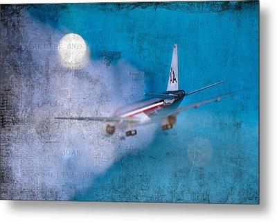 Leavin' On A Jet Plane Metal Print by Rebecca Cozart