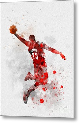 Lebron James Metal Print by Rebecca Jenkins