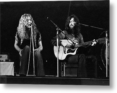 Led Zeppelin 1971 Acoustic Metal Print by Chris Walter