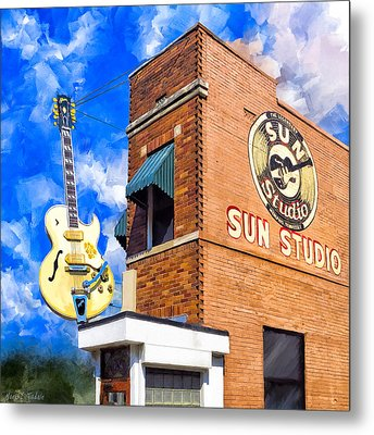 Legendary Home Of Rock N Roll Metal Print by Mark Tisdale