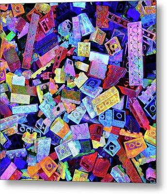 Legos Metal Print by Barbara Berney