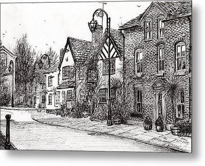 Leigh Arms Prestbury Metal Print by Vincent Alexander Booth