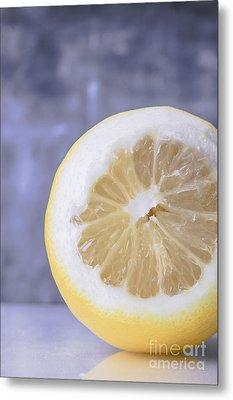 Lemon Half Metal Print by Edward Fielding