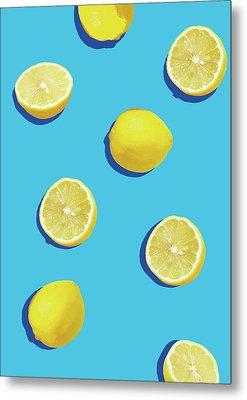 Lemon Pattern Metal Print by Rafael Farias