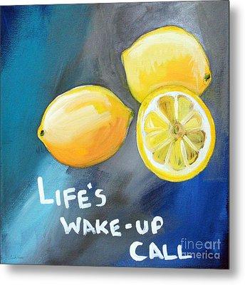 Lemons Metal Print by Linda Woods