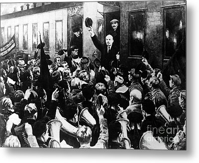 Lenin At Finland Station Metal Print by Granger