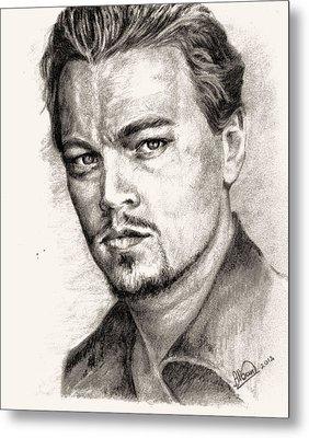 Leonardo Dicaprio Portrait Nr.2 Metal Print by Alban Dizdari