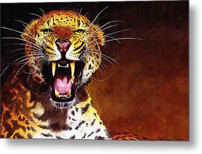 Leopard Metal Print by Paul Dene Marlor