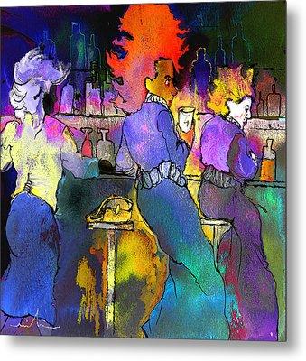 Les Filles Du Cafe De La Nuit Metal Print by Miki De Goodaboom