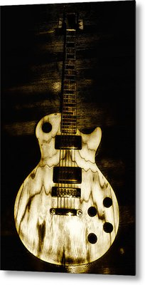 Les Paul Guitar Metal Print by Bill Cannon