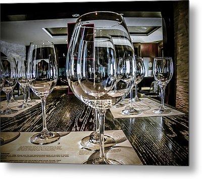 Let The Wine Tasting Begin Metal Print by Julie Palencia