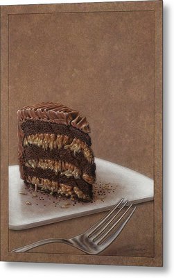 Let Us Eat Cake Metal Print by James W Johnson