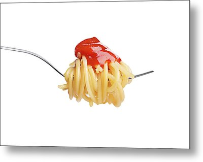 Let's Have A Pasta With Ketchup Metal Print by Vadim Goodwill
