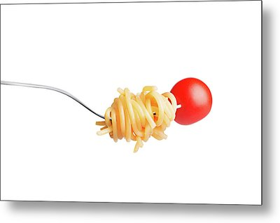 Let's Have A Pasta With Tomato Metal Print by Vadim Goodwill