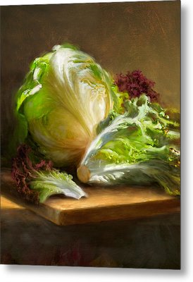 Lettuce Metal Print by Robert Papp
