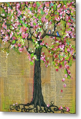 Lexicon Tree Of Life 4 Metal Print by Blenda Studio