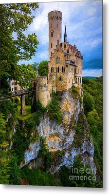 Lichtenstein Castle - Germany Metal Print by Gary Whitton