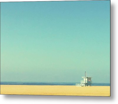 Life Guard Tower Metal Print by Denise Taylor
