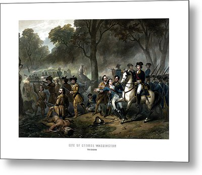 Life Of George Washington - The Soldier Metal Print by War Is Hell Store