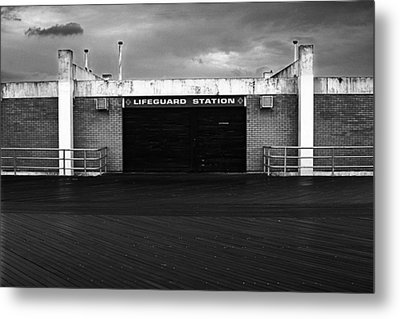 Lifeguard Station, Coney Island Metal Print by Catherine Jones