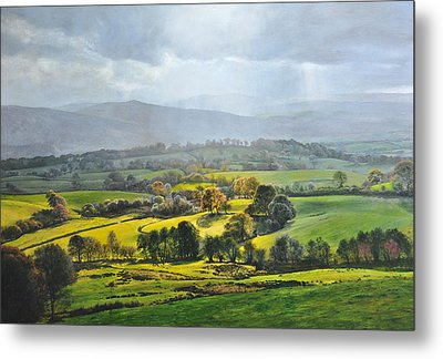 Light In The Valley At Rhug. Metal Print by Harry Robertson