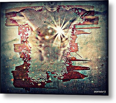 Light Of The Heart Metal Print by Paulo Zerbato