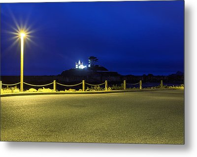 Light On The Lighthouse Metal Print by Joseph S Giacalone